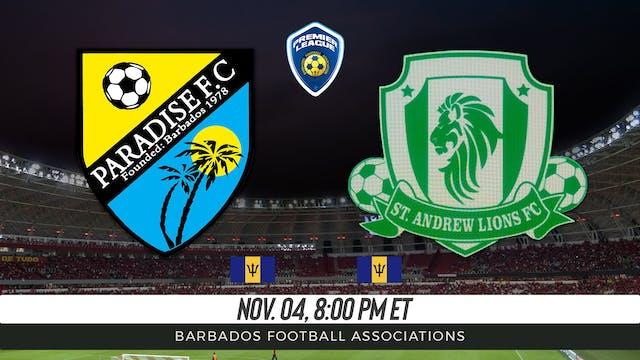 Paradise FC v St Andrew Lions