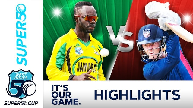 Super50 Cup - Jamaica Scorpions v USA Cricket Match Day 6