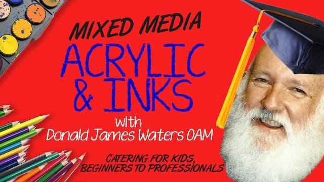 Mixed Media - Acrylic & Inks