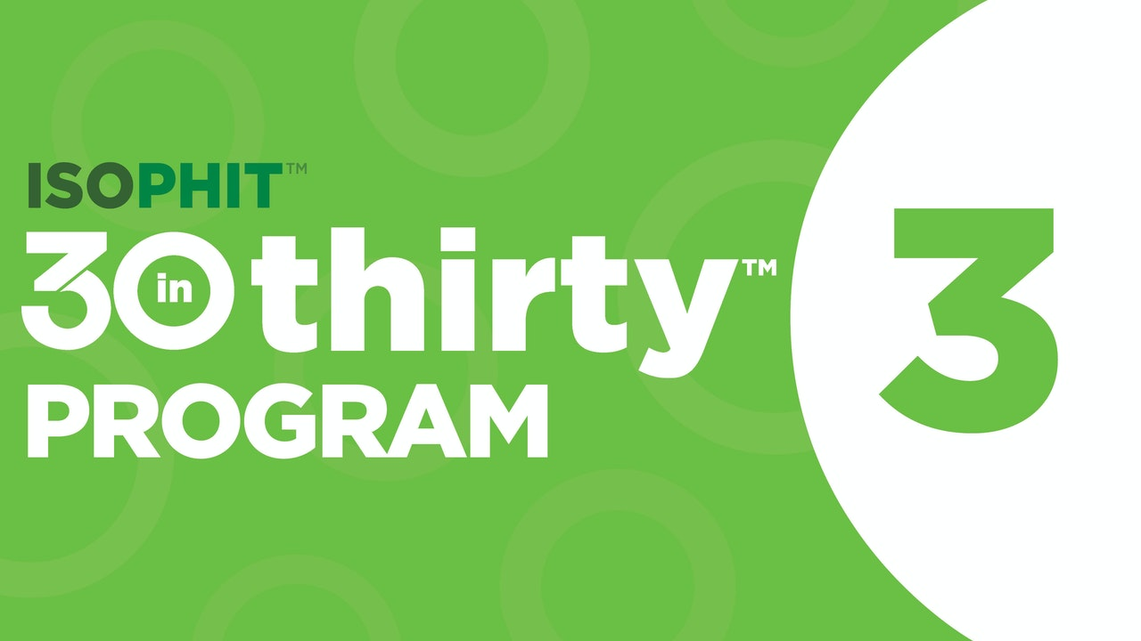 30inThirty™ | Program 3 Exercise Library
