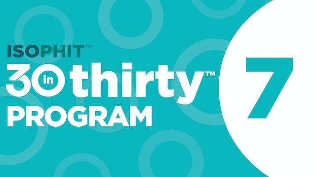 30inThirty™ | Program 7 Exercise Library