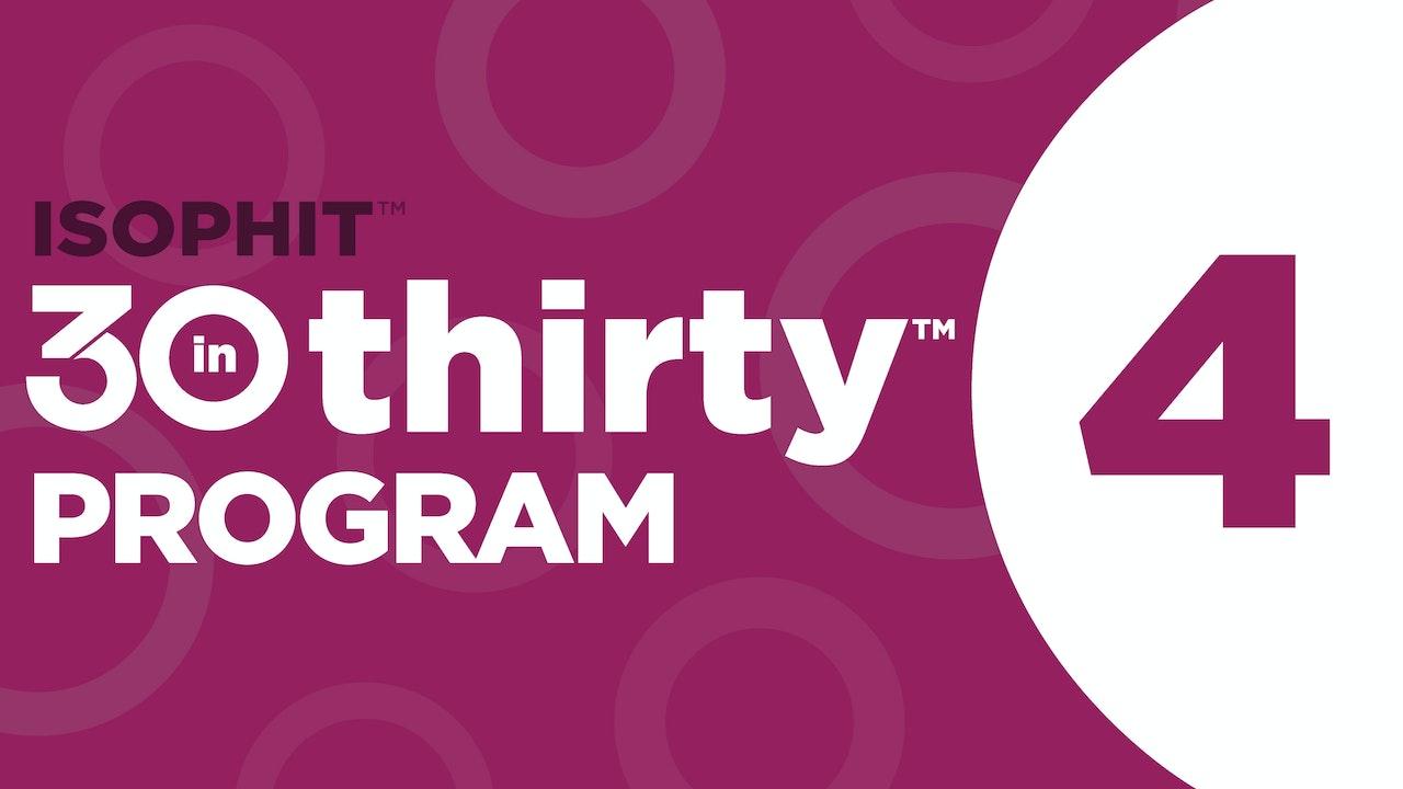 30inThirty™ | Program 4 Exercise Library