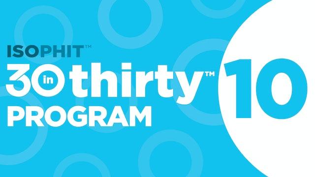 30inThirty™   Program 10 Exercise Library