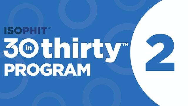 30inThirty™ | Program 2 Exercise Library