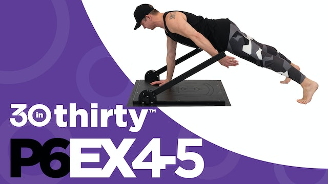 One Arm Plank With Shoulder Extension (P6EX4-5)