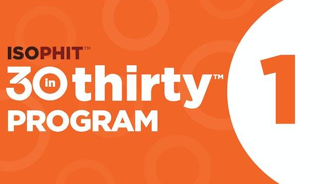 30inThirty™ | Program 1 Exercise Library