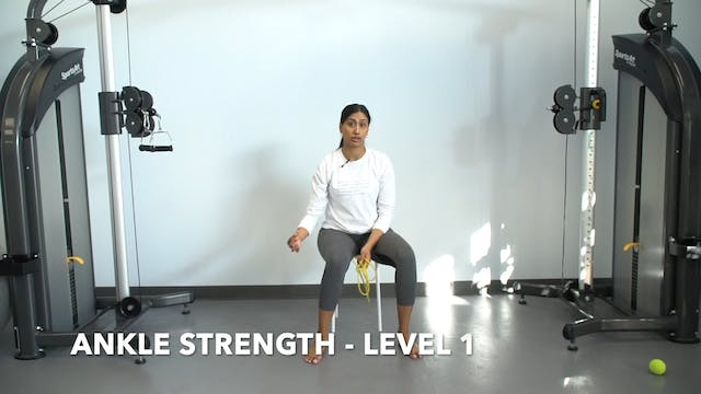Ankle Strength Level 1  - Part 1