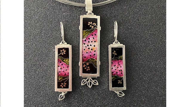 Cloisonne' Enamel - Project - Watermelon Pendant and Earrings Pt. 3