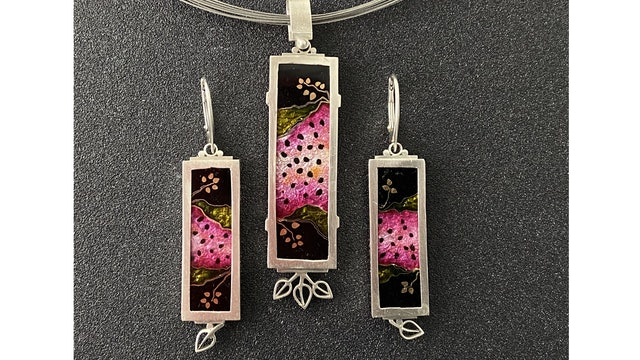 Cloisonne' Enamel - Project - Watermelon Pendant and Earrings Pt. 2