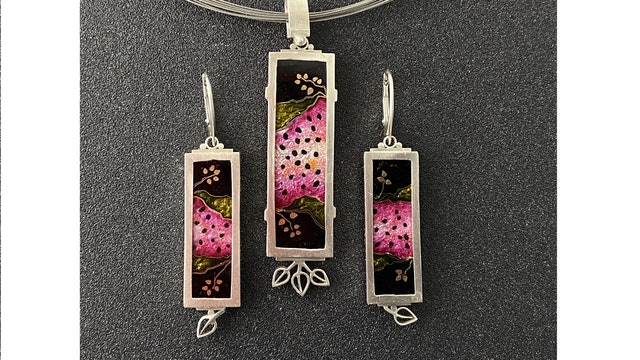 Cloisonne' Enamel - Project - Watermelon Pendant and Earrings Pt. 4