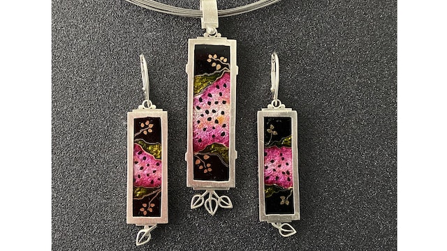 Cloisonne' Enamel - Project - Watermelon Pendant and Earrings Pt. 1