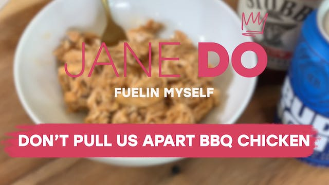 Don't Pull Us Apart BBQ Chicken
