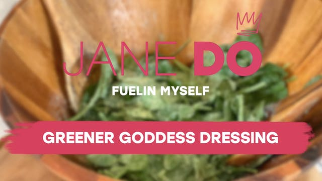 Greener Goddess Dressing