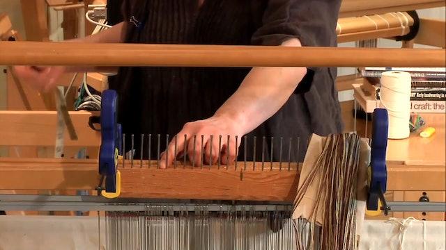 1.2.2 - Warping a Counter-balanced Loom, short silk warp