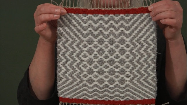 4.9.3 - Weft Faced on Opposites Theory and at the Loom