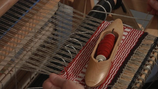 4.9.2 - Weft Faced Twills at the Loom
