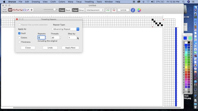 4.2.1.6 - Page 7 - Repeat a pattern element (Mac)