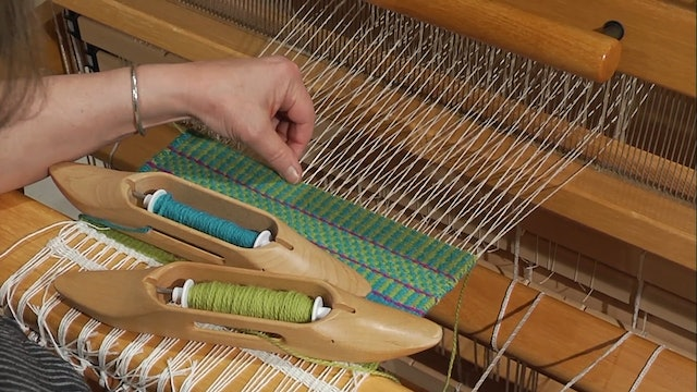 3.4.2 - Weft Faced, Plain Weave Sequences at the Loom