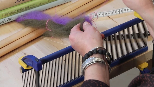 1.9.1 - Tackling a Small Brushed Mohair Warp Project