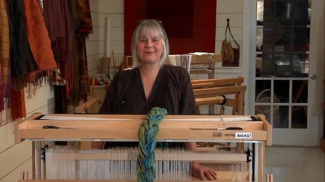 1.2.1 - Warping a Loom 1, cotton boucle warp
