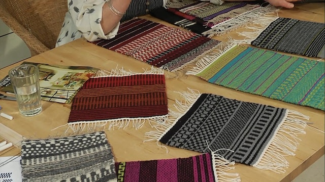 3.4.7 - Reading Our Weft Faced Samples at the Table