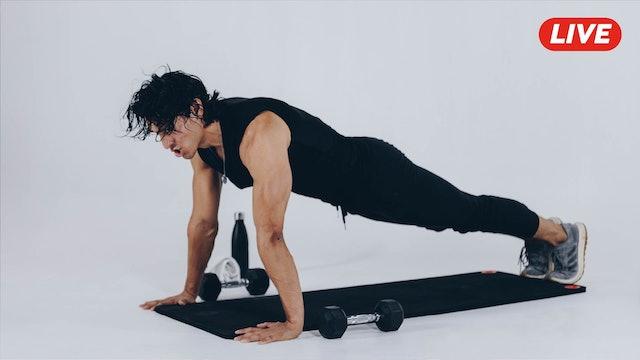 08Jul -Espalda, Triceps y Hombro con Sergio