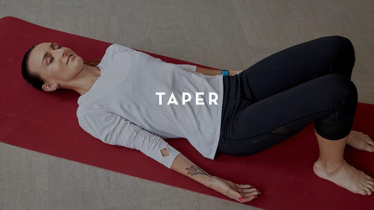 Plan: Marathon Taper