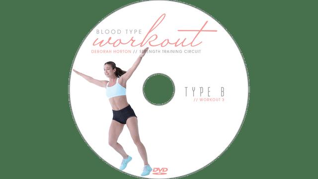 Blood Type Workout - B - Strength Training Circuit