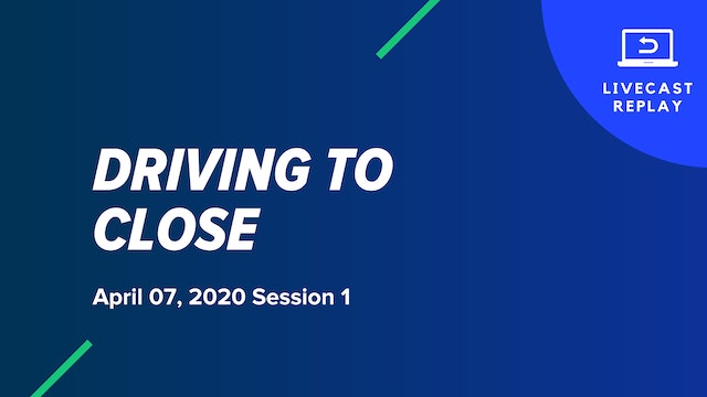 Driving To Close Course: April 7, 2020 Session 1