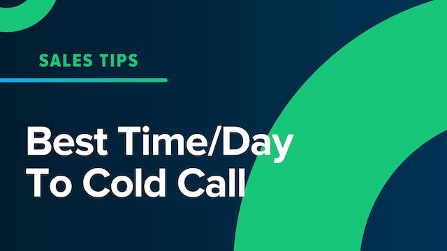 Best Time/Day To Cold Call