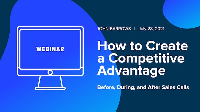 How to Create a Competitive Advantage...