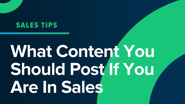 What Content You Should Post If You Are In Sales