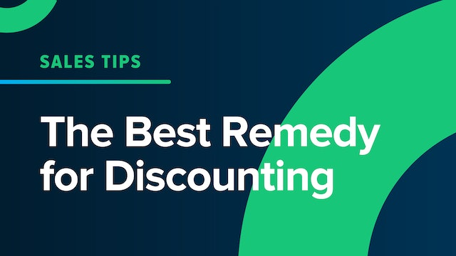 The Best Remedy for Discounting