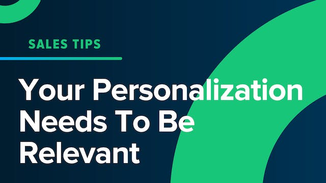 Your Personalization Needs To Be Rele...