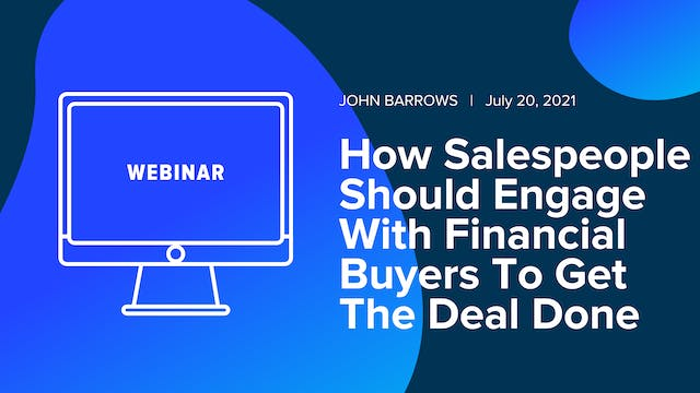 How Salespeople Should Engage With Fi...
