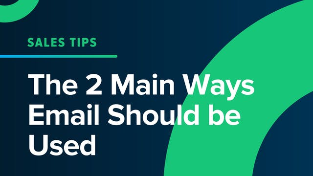 The 2 Main Way E-Mail Should Be Used