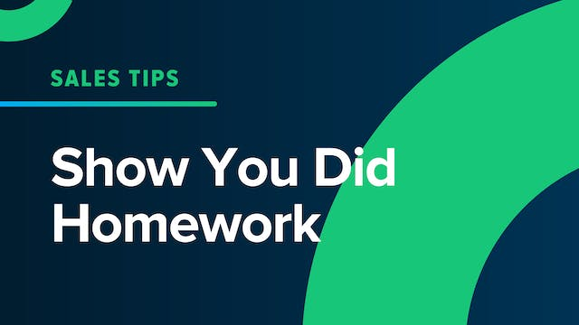 Show You Did Homework