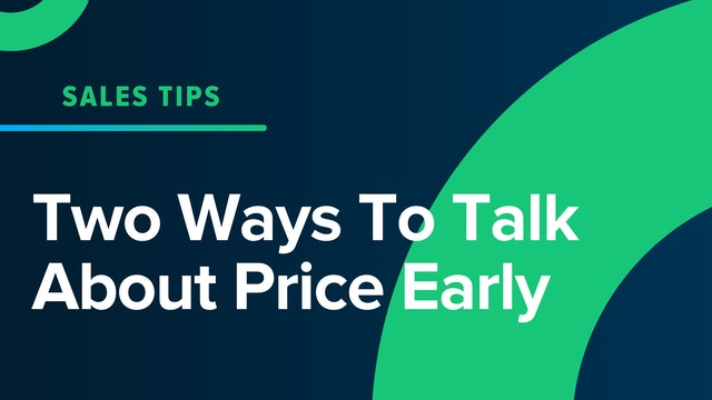 Two Way To Talk About Price Early