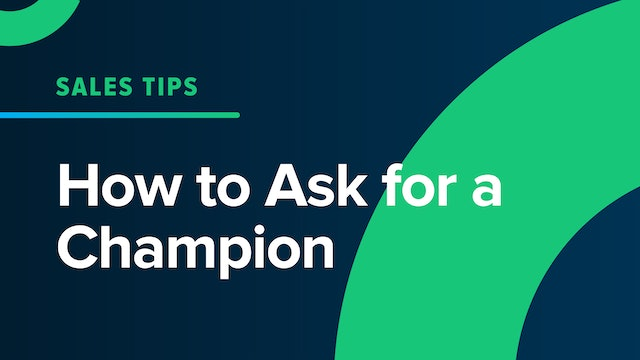 How to ask for a Champion