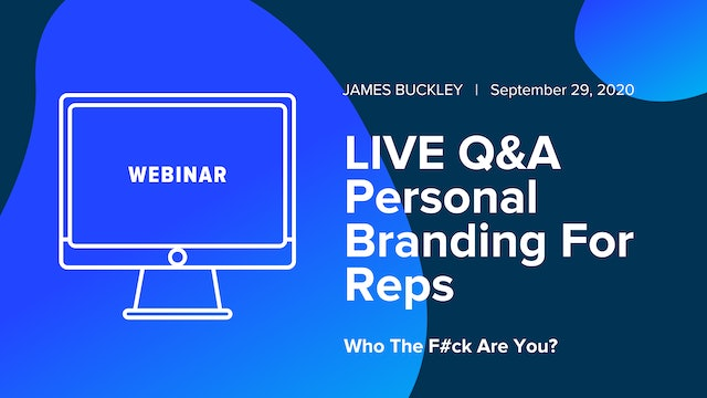 Q&A With James Buckley: Personal Branding for Reps