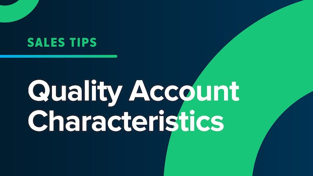 Quality Account Characteristics