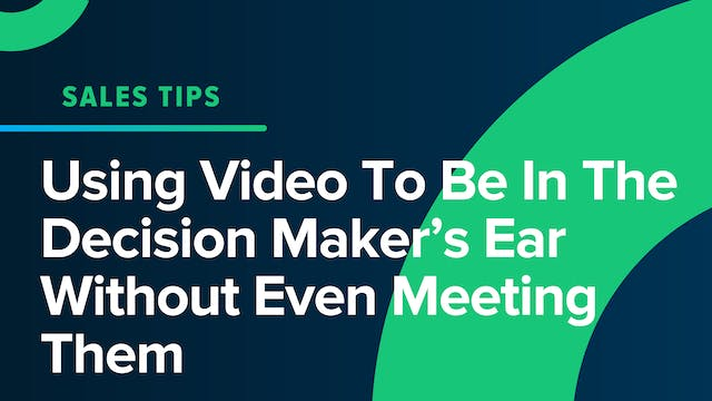 Using Video To Be In The Decision Mak...