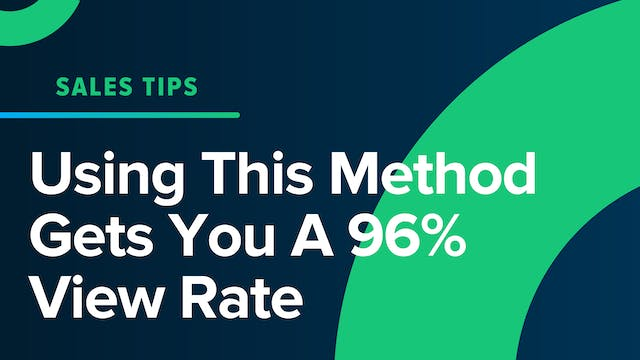 Using This Method Gets You A 96% View...