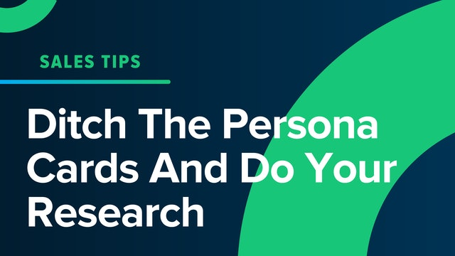 Ditch The Persona Cards And Do Your Research