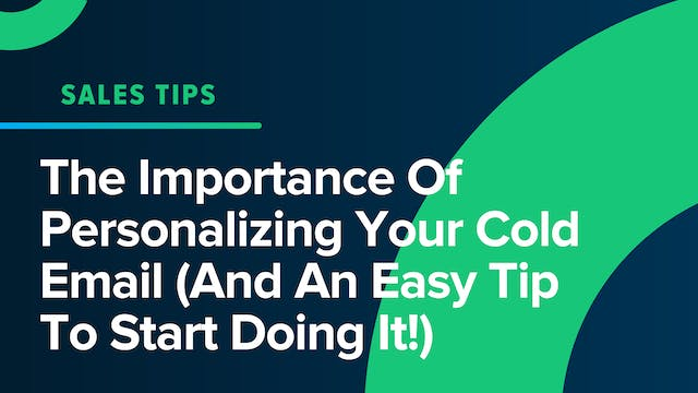 The Importance Of Personalizing Your ...