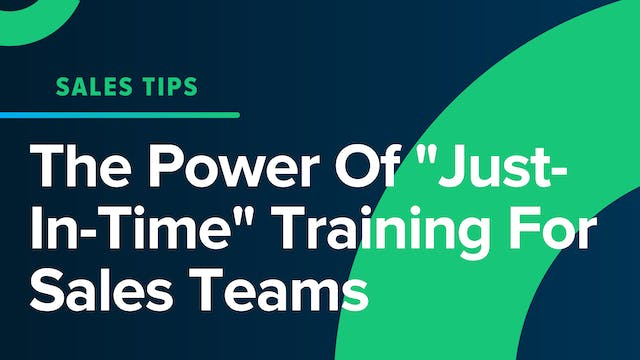 "The Power Of ""Just-In-Time"" Training ..."