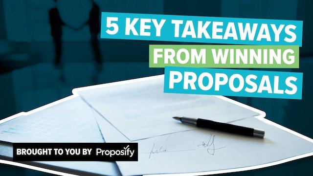 5 Key Takeaways From Winning Proposals