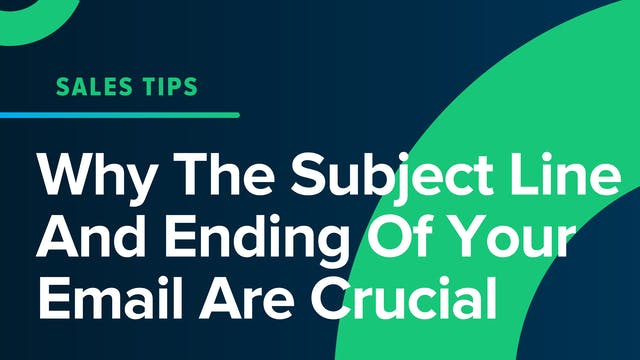 Why The Subject Line And Ending Of Yo...