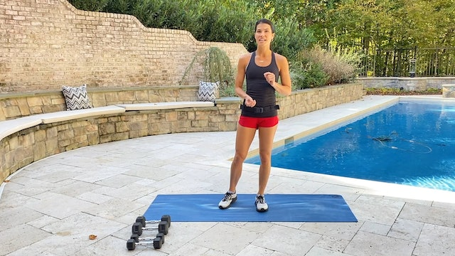 20-Minute Upper Body Dumbbell Workout with 100 Push Ups