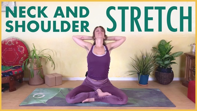 Seated Yoga Stretch for Neck and Shoulders